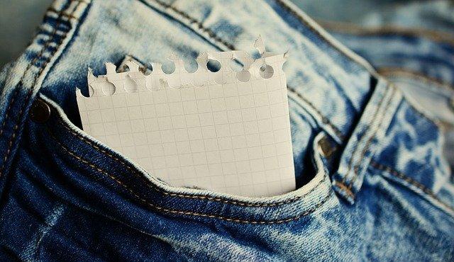 papír v kapse