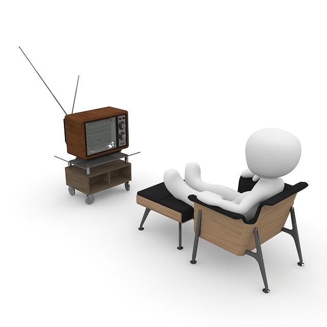 člověk u televize