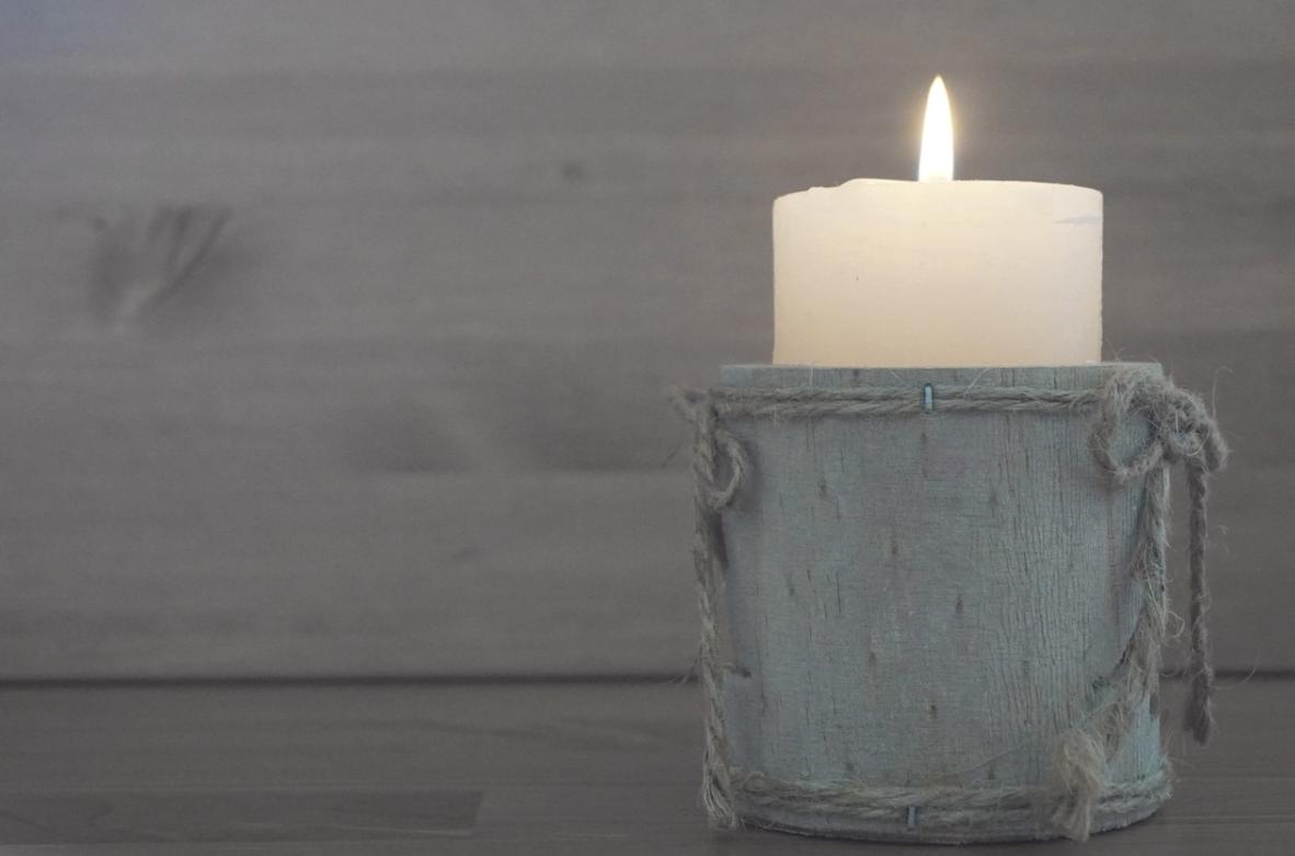 svíčka jako dekorace
