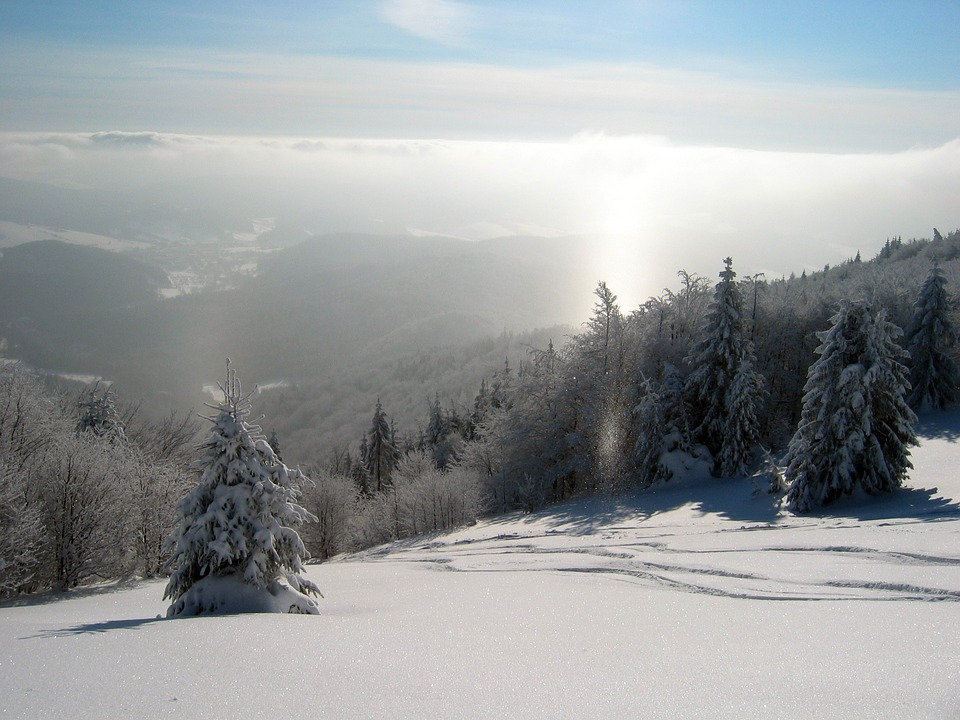 zima na horách